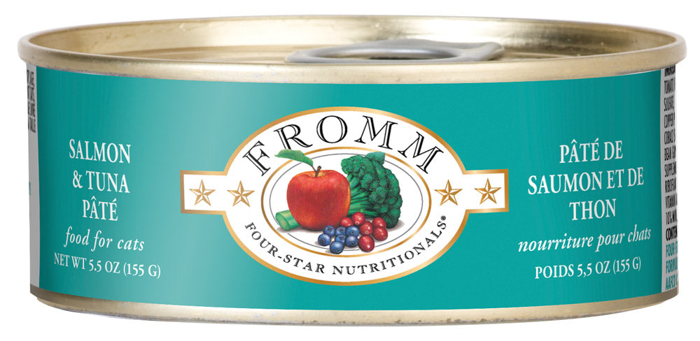 Fromm 4-Star Salmon and Tuna Pate Canned Wet Cat Food at NJPetSupply.com