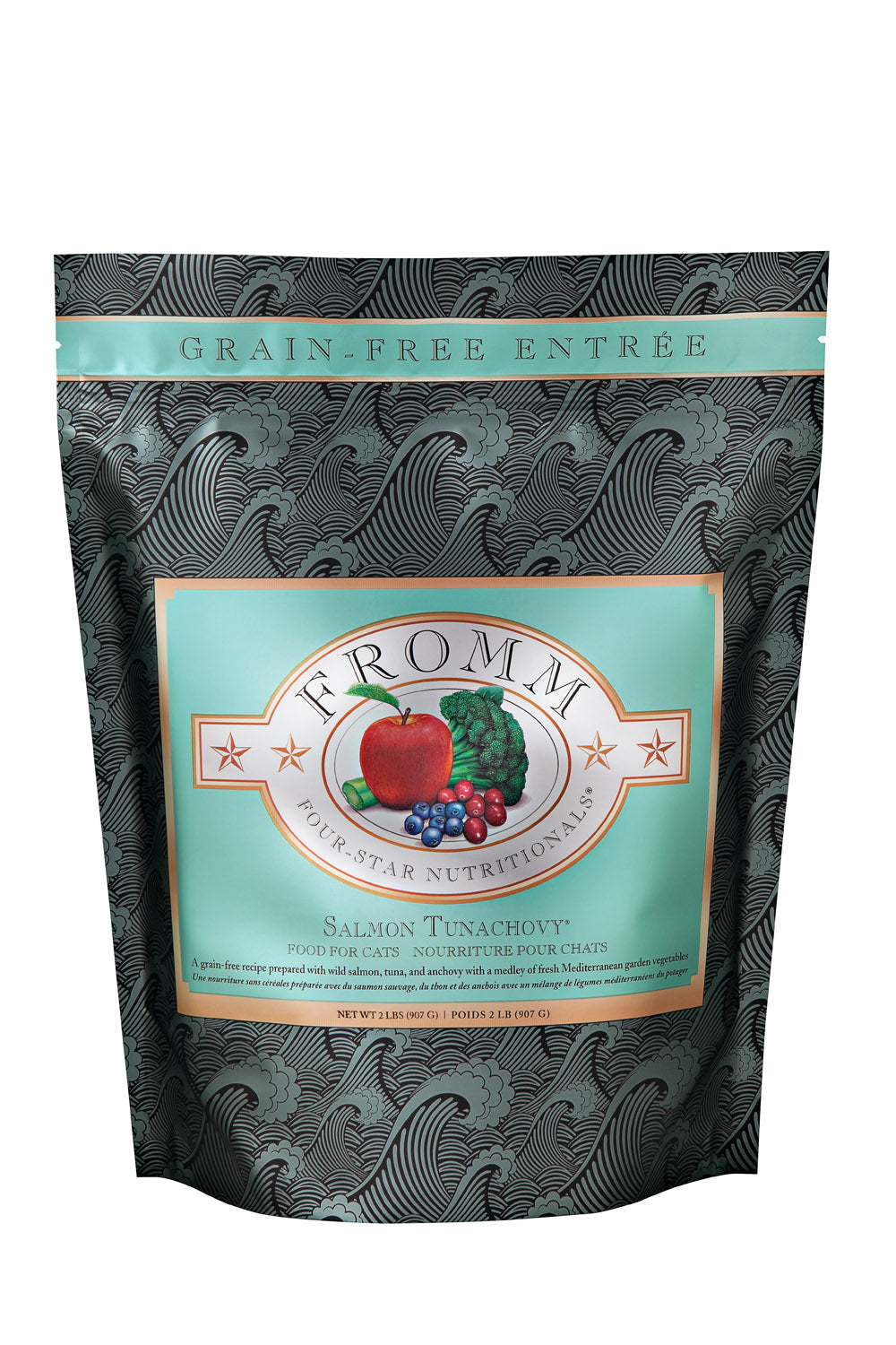 Fromm 4-Star Grain Free Salmon Tunachovy Dry Cat Food 5-lb at NJPetSupply.com