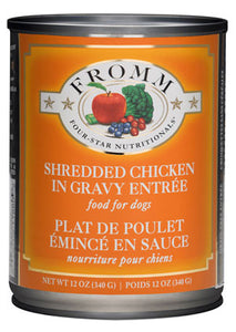 Fromm 4-Star Shredded Chicken in Gravy Entree Canned Wet Dog Food at NJPetSupply.com