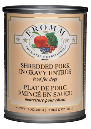 Fromm 4-Star Shredded Pork in Gravy Entree Canned Wet Dog Food at NJPetSupply.com