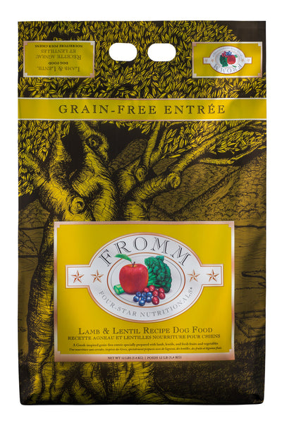 Fromm 4-Star Grain Free Lamb & Lentil Dry Dog Food 4-lb at NJPetSupply.com