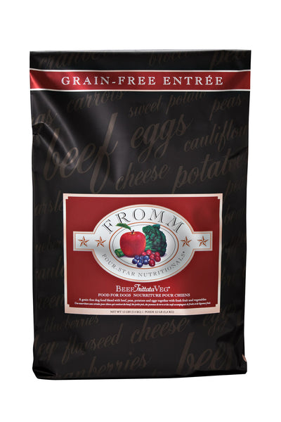 Fromm 4-Star Grain-Free Beef Frittata Vegetable Dry Dog Food 12-lb at NJPetSupply.com