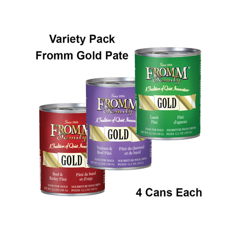 Fromm Gold Canned Dog Food, Variety Pack #2