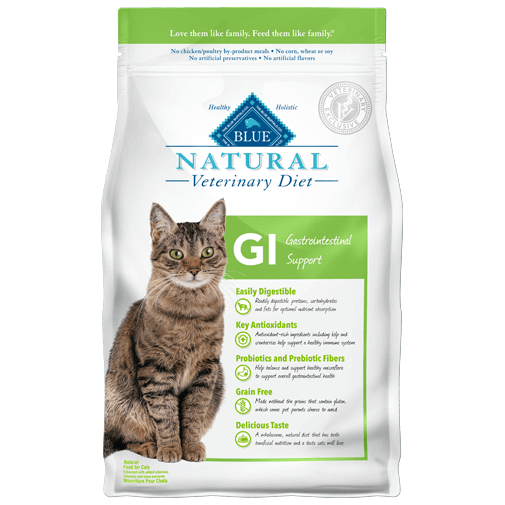 BLUE Natural Veterinary Diet GI Gastrointestinal Support Dry Cat Food - NJ Pet Supply