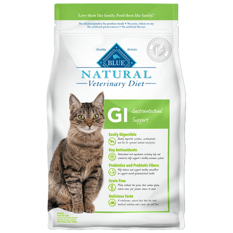 BLUE Natural Veterinary Diet GI Gastrointestinal Support Dry Cat Food at NJPetSupply.com