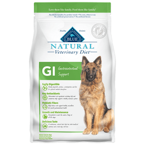 BLUE Natural Veterinary Diet GI Gastrointestinal Support Dry Dog Food - NJ Pet Supply