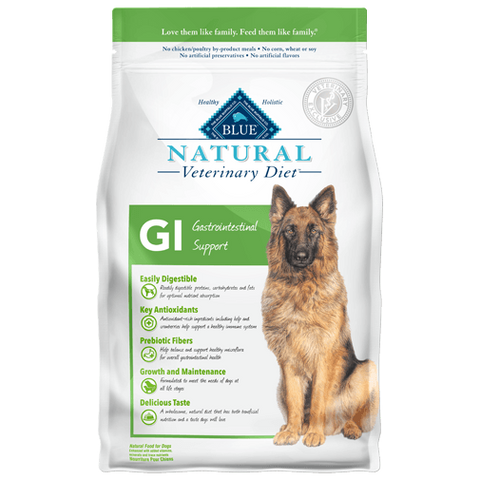 BLUE Natural Veterinary Diet GI Gastrointestinal Support Dry Dog Food at NJPetSupply.com