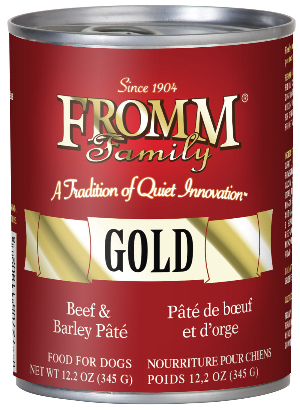 Fromm Gold Beef and Barley Pate Canned Dog Food - NJ Pet Supply