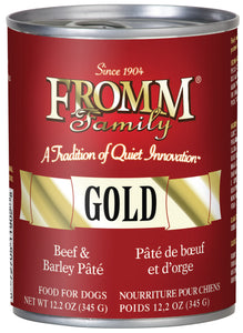 Fromm Gold Beef and Barley Pate Canned Wet Dog Food at NJPetSupply.com