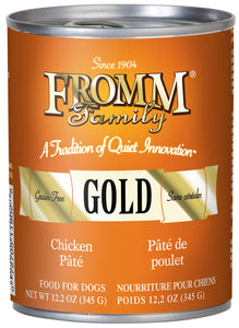 Fromm Gold Chicken Pate Canned Wet Dog Food at NJPetSupply.com