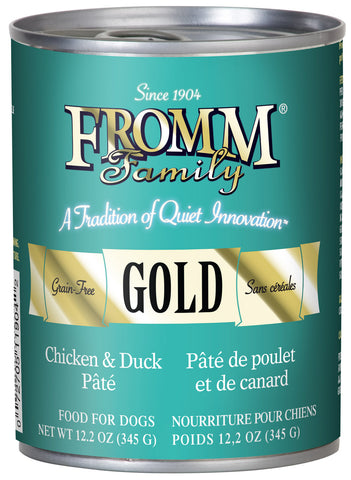 Fromm Gold Chicken and Duck Pate Canned Wet Dog Food at NJPetSupply.com