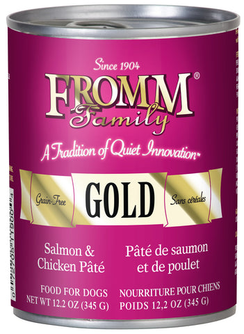 Fromm Gold Salmon and Chicken Pate Canned Wet Dog Food at NJPetSupply.com