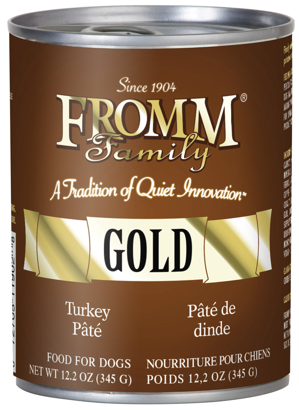 Fromm Gold Turkey Pate Canned Wet Dog Food at NJPetSupply.com