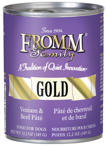 Fromm Gold Venison and Beef Pate Canned Wet Dog Food at NJPetSupply.com