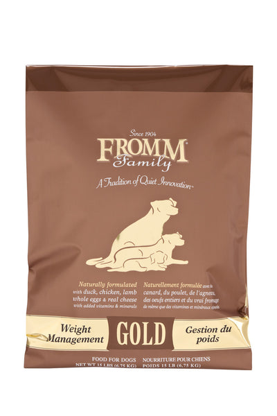 Fromm Gold Weight Management Dry Dog Food 5-lb at NJPetSupply.com
