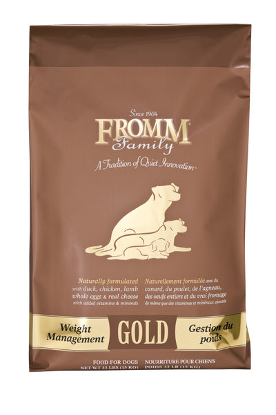 Fromm Gold Weight Management Dry Dog Food 15-lb at NJPetSupply.com