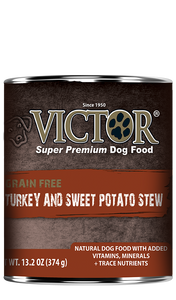 Victor Grain Free Turkey and Sweet Potato Stew Canned Wet Dog Food at NJPetSupply.com
