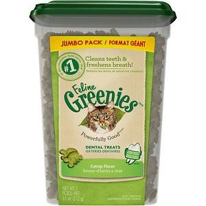 Feline Greenies Dental Cat Treats, Catnip Flavor 11-oz at NJPetSupply.com