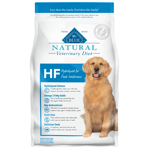 BLUE Natural Veterinary Diet HF Hydrolyzed for Food Intolerance Dry Dog Food at NJPetSupply.com