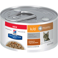 Hill's Prescription Diet k/d + Mobility Feline Chicken & Vegetable Stew 10858