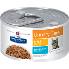 Hill's Prescription Diet c/d Multicare Feline Vegetable, Tuna & Rice Stew 3385 at NJPetSupply.com