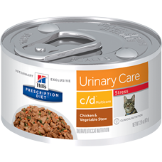 Hill's Prescription Diet c/d Multicare Stress Feline Chicken & Vegetable Stew 3387 at NJPetSupply.com