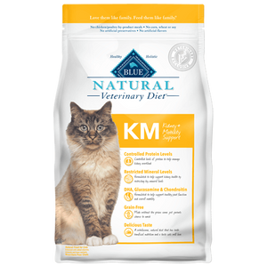 BLUE Natural Veterinary Diet KM Kidney + Mobility Support Dry Cat Food at NJPetSupply.com