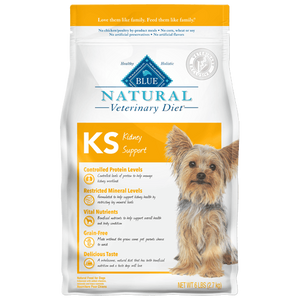 BLUE Natural Veterinary Diet KS Kidney Support Dry Dog Food - NJ Pet Supply