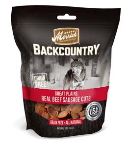 Merrick Backcountry Real Sausage Cuts Beef Flavor Dog Treats at NJPetSupply.com