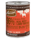 Merrick Grain Free 96% Real Beef, Lamb, and Buffalo Canned Wet Dog Food at NJPetSupply.com