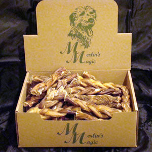 Merlin's Magic Free Range Braided Bully Stick 6""
