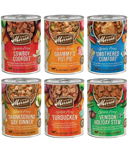 Merrick Grain Free Canned Dog Food Variety Pack