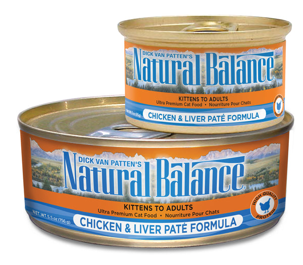Natural Balance Ultra Premium Chicken & Liver Pate Canned Wet Cat Food at NJPetSupply.com