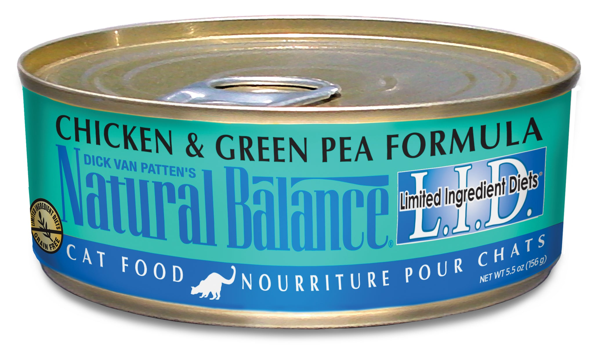 Natural Balance L.I.D. Chicken & Green Pea Canned Wet Cat Food 5.5-oz Can at NJPetSupply.com