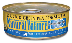 Natural Balance L.I.D. Duck & Green Pea Canned Wet Cat Food 5.5-oz Can at NJPetSupply.com
