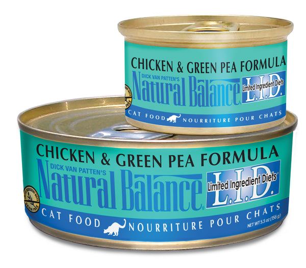 Natural Balance L.I.D. Chicken & Green Pea Canned Wet Cat Food at NJPetSupply.com