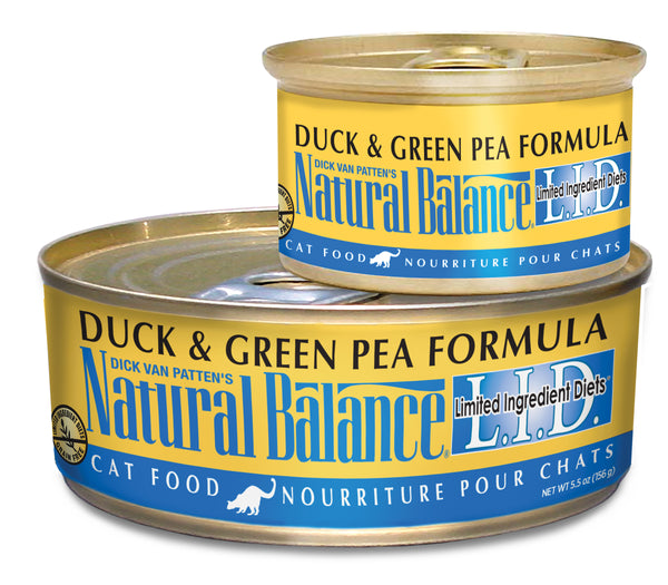 Natural Balance L.I.D. Duck & Green Pea Canned Wet Cat Food at NJPetSupply.com