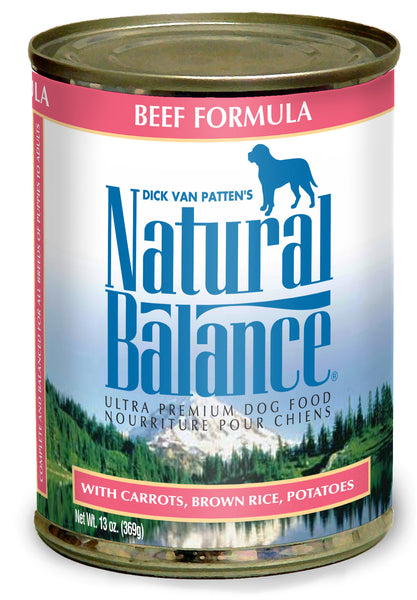 Natural Balance Ultra Premium Beef Canned Wet Dog Food 13-oz can at NJPetSupply.com