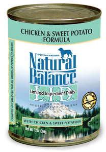 Natural Balance LID Chicken & Sweet Potato Canned Wet Dog Food 6-oz at NJPetSupply.com