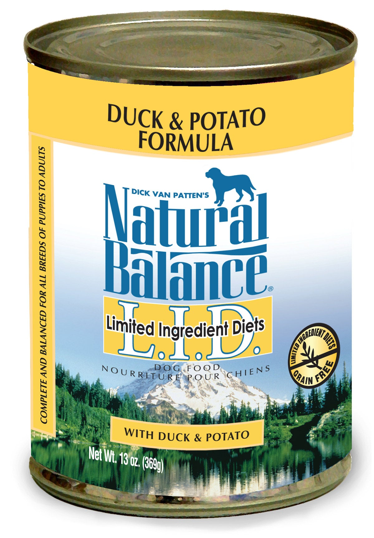 Natural Balance LID Duck & Potato Canned Wet Dog Food 6-oz at NJPetSupply.com