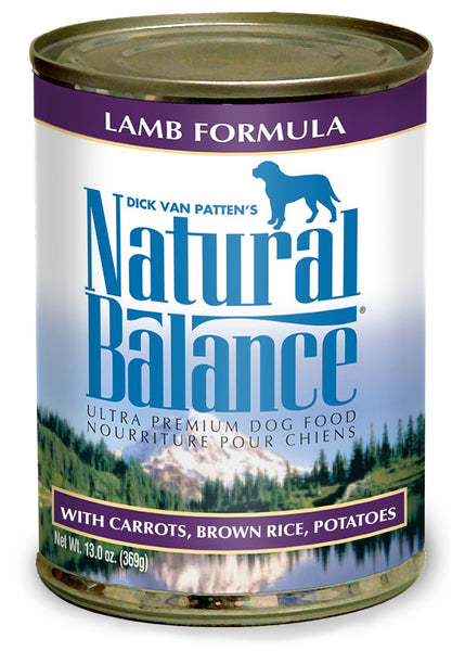 Natural Balance Ultra Premium Lamb Canned Wet Dog Food 13-oz Can at NJPetSupply.com
