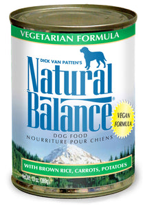Natural Balance Ultra Premium Vegetarian Canned Wet Dog Food at NJPetSupply.com