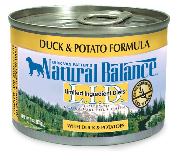 Natural Balance LID Duck & Potato Canned Wet Dog Food 13-oz at NJPetSupply.com