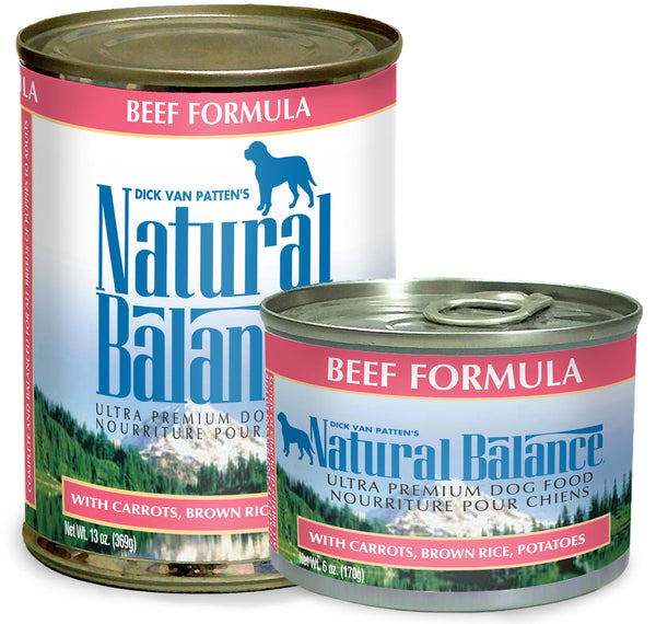 Natural Balance Ultra Premium Beef Canned Wet Dog Food at NJPetSupply.com