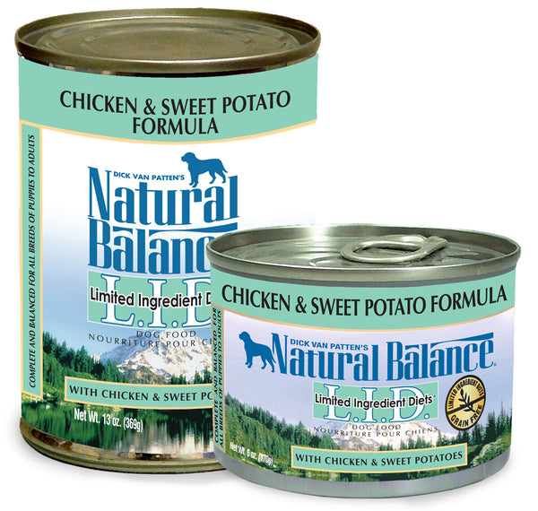 Natural Balance LID Chicken & Sweet Potato Canned Wet Dog Food at NJPetSupply.com