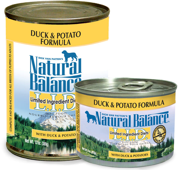 Natural Balance LID Duck & Potato Canned Wet Dog Food at NJPetSupply.com