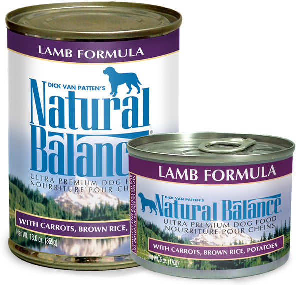 Natural Balance Ultra Premium Lamb Canned Wet Dog Food at NJPetSupply.com
