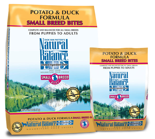 Natural Balance L.I.D. Potato & Duck Small Breed Bites Dry Dog Food at NJPetSupply.com