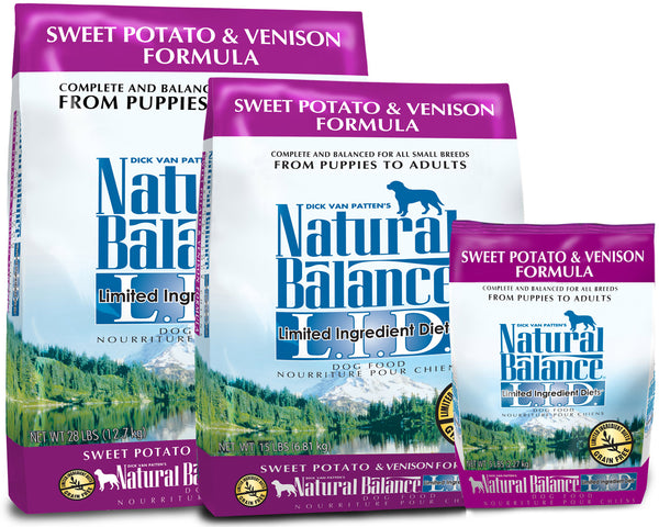 Natural Balance L.I.D. Sweet Potato & Venison Dry Dog Food at NJPetSupply.com