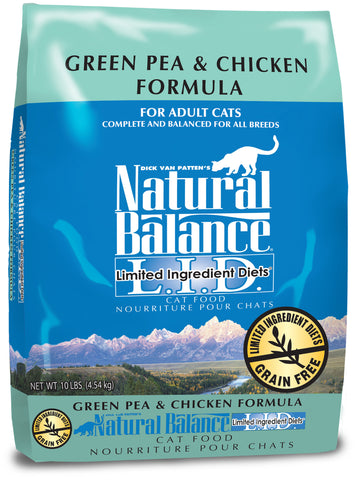 Natural Balance L.I.D. Green Pea & Chicken Dry Cat Food